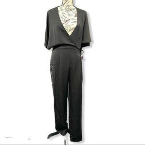 One One Six Satin Wrap Top Jumpsuit